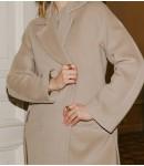 Пальто женское кашемировое; светлый беж