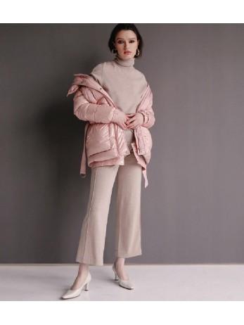 Куртка пуховик;пудра;new