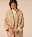 Пальто Alpaca в гусячі лапки;таупбіле