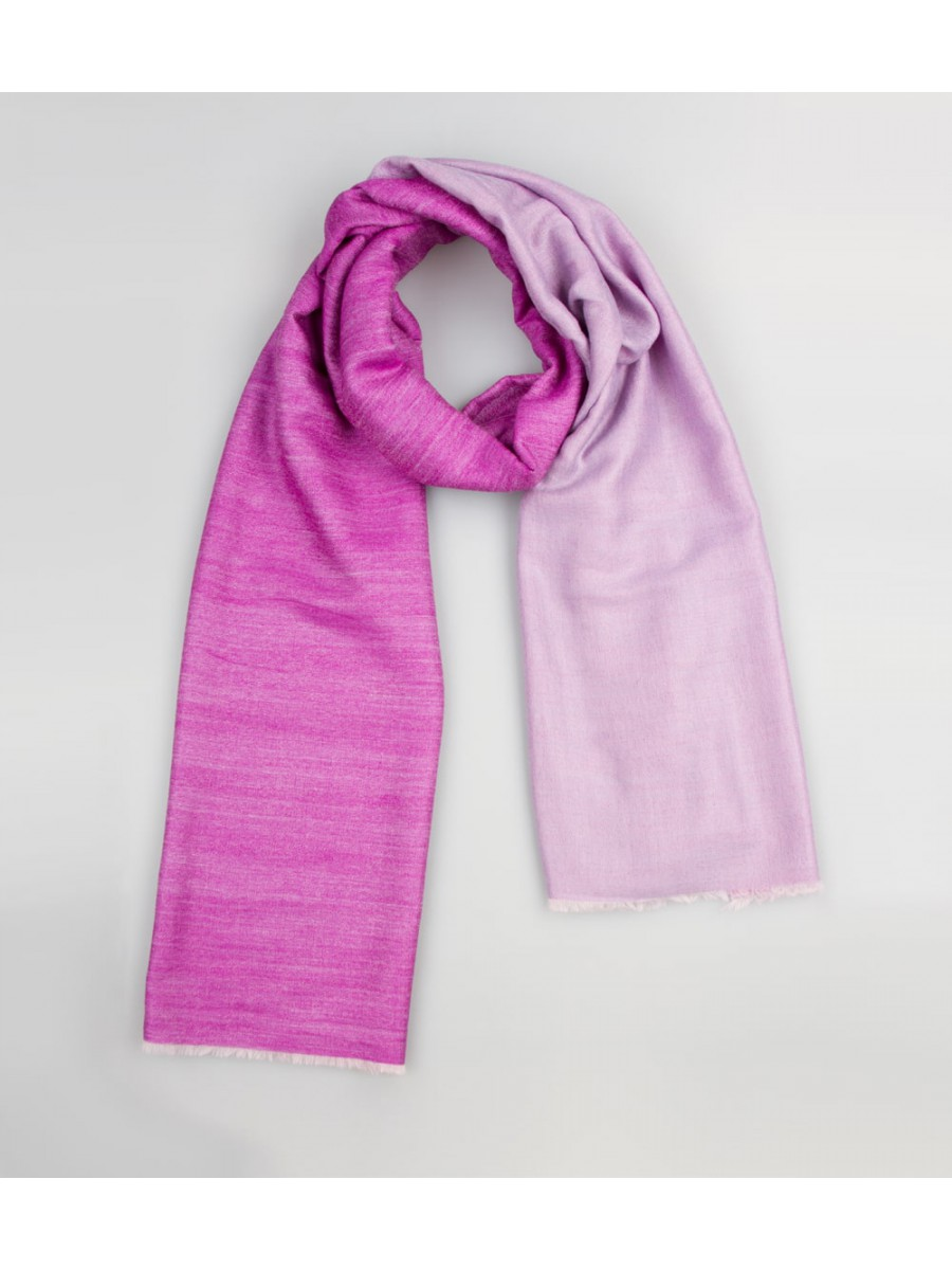 Шарф двусторонний 0367; фиолетово / аметистовый, размер 200 * 80