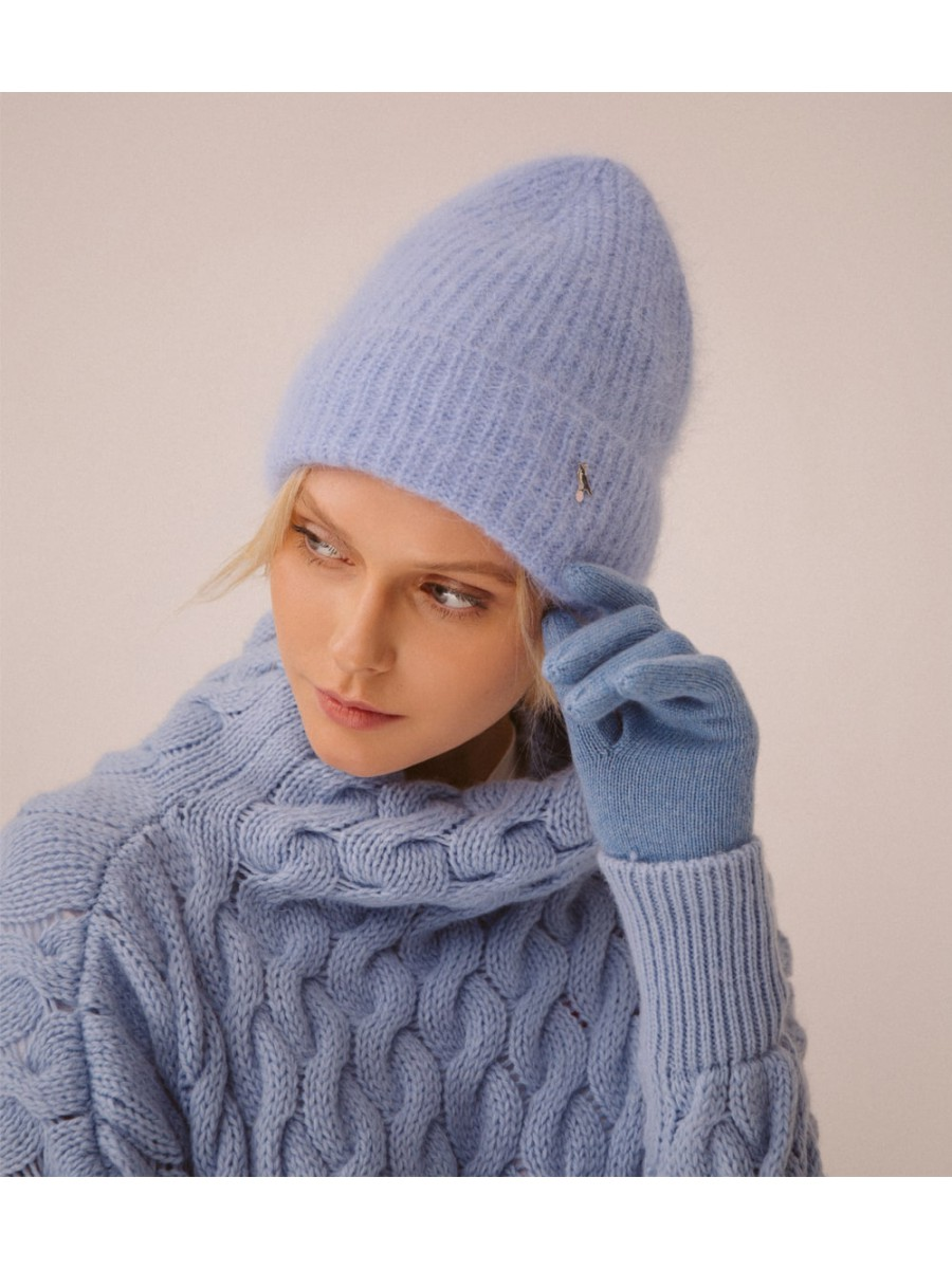 Шапка Ангора; голубой