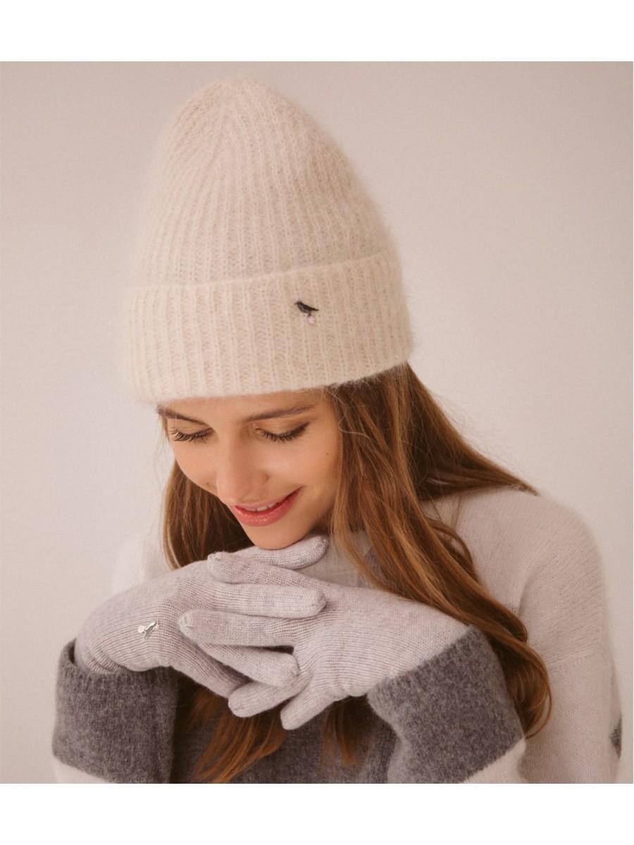 Перчатки кашемировые; светло-серый