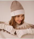 Перчатки кашемировые; белый