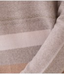 Джемпер мериносовый с полосками; серый меланж