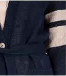 Кардиган Lino удлинённый; тёмно-синий