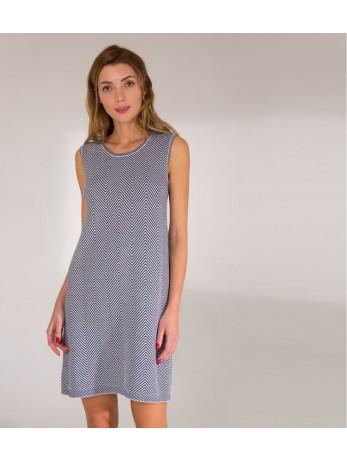 Платье жаккардовое; чёрно-белый