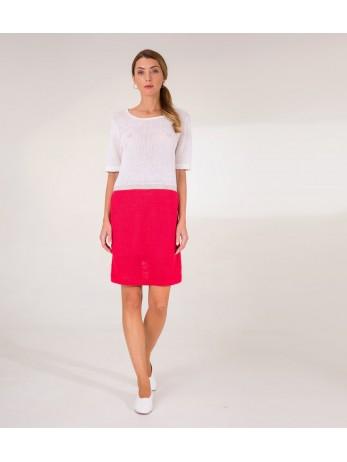 Платье Lino с полоской; коралл