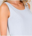 Майка Caribe с люрексом;голубой