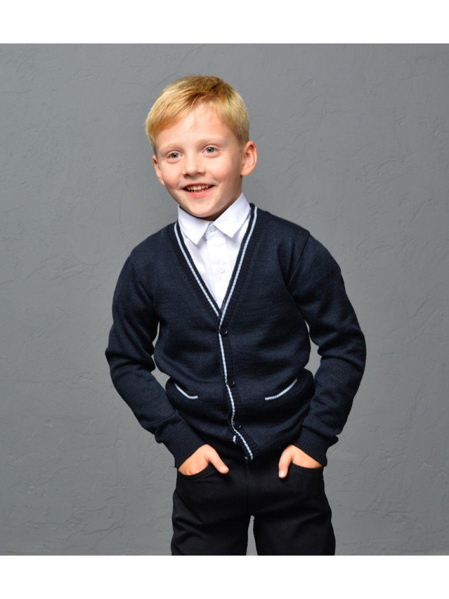 Кардиган шерстяний для мальчика; синий
