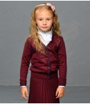 Кардиган шерстяной для девочки; бордовый