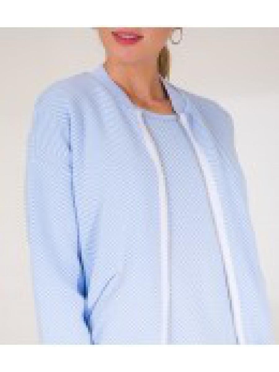 Бомбер жакардовий;блакитно-білий;100%бавовна;р.S