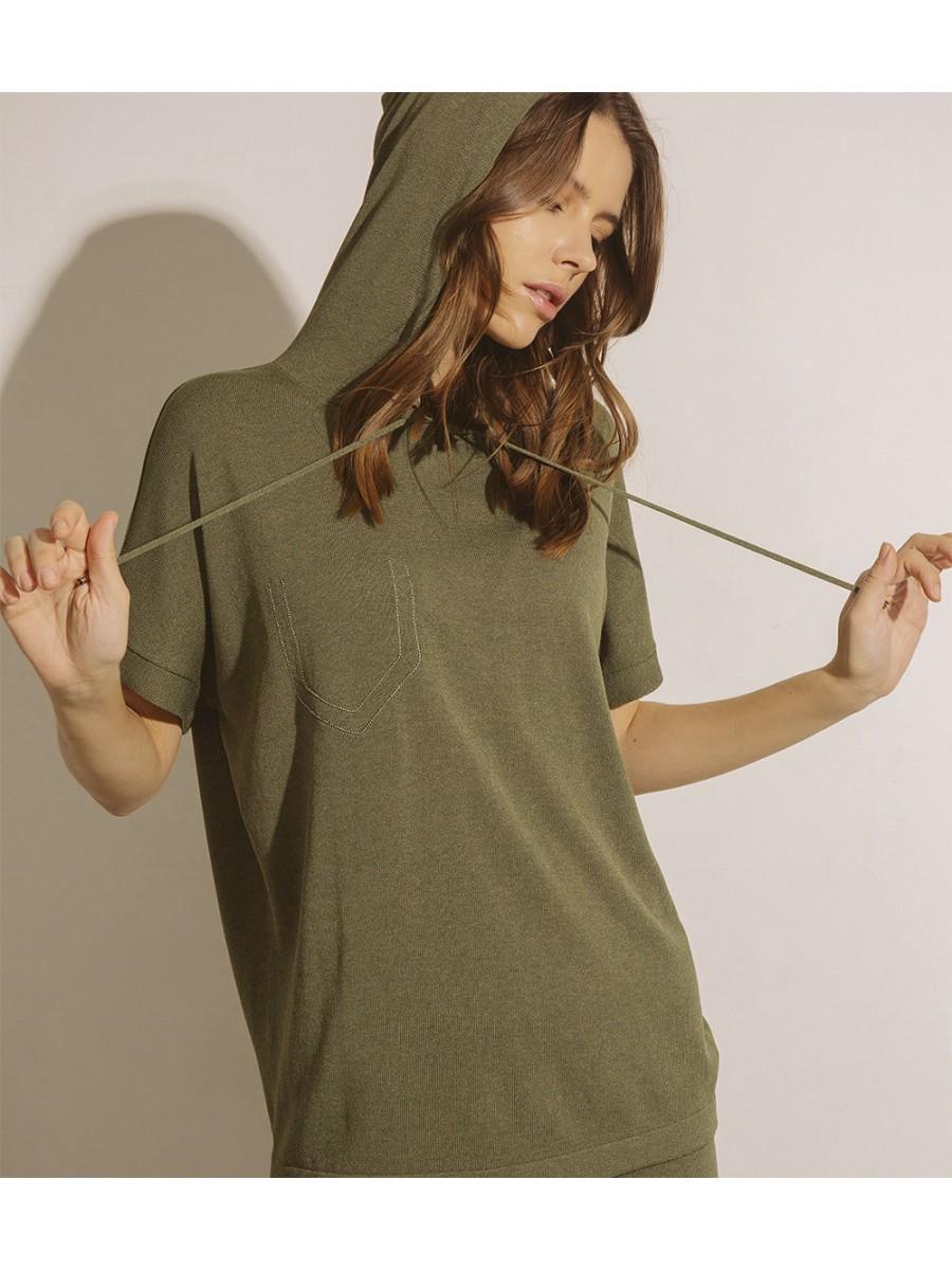 Джемпер з капюшоном; олива