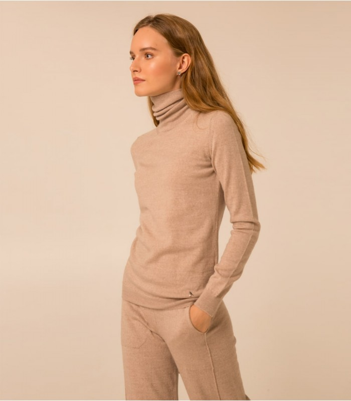 ГОЛЬФ 100% MERINO EXTRAFINE WOOL, ЦВЕТ ТАУП МЕЛАНЖ